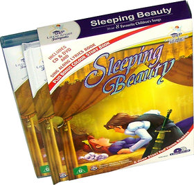 Sleeping Beauty Story Book  (2 Book+DVD+CD)
