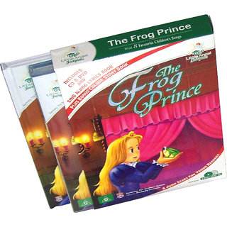 The Frog Prince Story Book  (2 Book+DVD+CD)