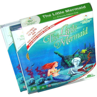 The Little Mermaid Story Book  (2 Book+DVD+CD)
