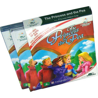The Princess  the Pea Story Book  (2 Book+DVD+CD)
