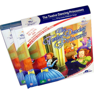 The Twelve Dancing Princess Story Book  (2 Book+DVD+CD)