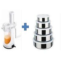 Buy Ganesh Plastic Fruit & Vegetable Juicer & Get 5 Pcs Kitchen Bowl Free