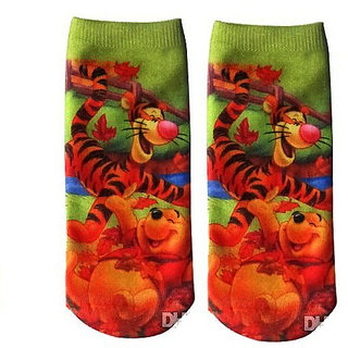 FNB Kids Cotton Socks Designs Cartoon Winnie the Pooh Sneaker
