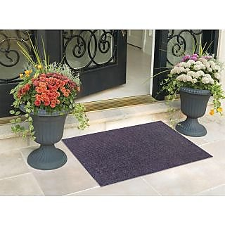 Status Pack Of 2 Black Nylon Door Mat ( 15X22 Inch)