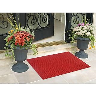 Status Pack Of 2 Wine Nylon Door Mat ( 15X22 Inch)