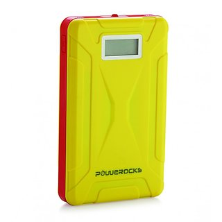 Powerocks MACH 125 12500 mAh Power Bank Charger With Display (Yellow-Red)
