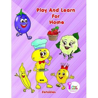 Pre-school Nursery Worksheet - Eatables - Month-4