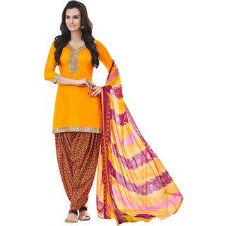 Yellow Cotton Punjabi Patiala Salwar Kameez