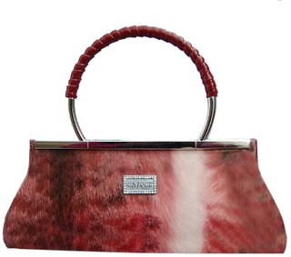 unique ladies purse red and white colour