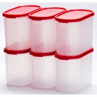 Cutting EDGE Oblong Air Tight Storage Canisters Medium And Small Set Of 4
