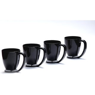 Cutting EDGE Floating Cups blue with inbuilt coaster set of 4 Black