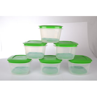 Cutting EDGE Veggie Fresh Refrigerator Storage 500ml Container Set of 4 With Special Freshness Trays