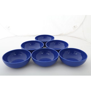 Cutting EDGE Vibrant Microwaveable Snack Bowls Set Of 6 Blue