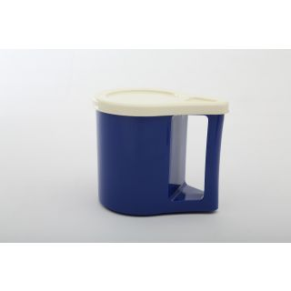Cutting EDGE Bliss Coffee Mugs With Cover Cum Coaster Set Of 2 Electric Blue