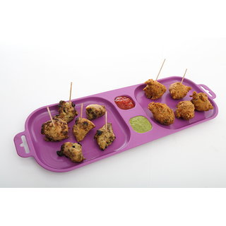 Cutting EDGE Serve and Dip Xcelsior Snack Trays Purple set of 3
