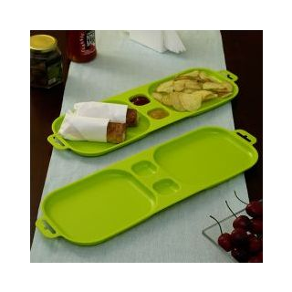 Cutting EDGE Serve and Dip Xcelsior Snack Trays Light Green set of 2