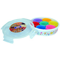 Lock & Fit Multipurpose Masala/Dry Fruit/Candy Box With Multicolor Containers