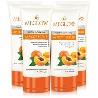 MEGLOW APRICOT SCRUB (PACK OF 4 TUBES OF 70 GRAMS EACH)