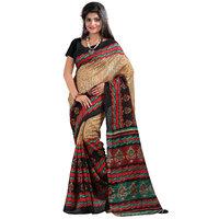 Kajal Sarees Red Art Silk Floral Saree With Blouse