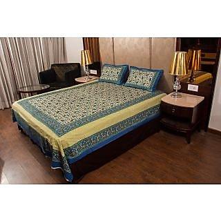 Shreeng Leafy Printed Double Bedsheet