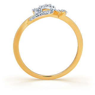 Karatcraft.In Twisted 18Kt Diamond Gold Ring.