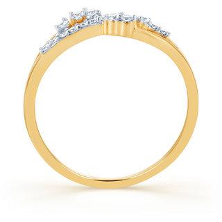 Karatcraft.In Trenza 18Kt Diamond Gold Ring.