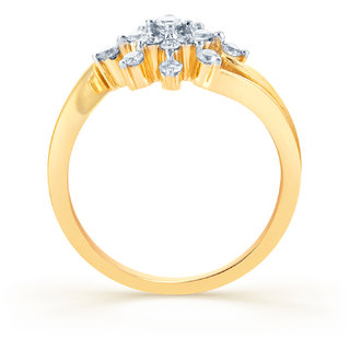 Karatcraft.In Star Burst 18Kt Diamond Gold Ring.