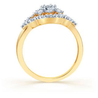 Karatcraft.In Flower In The Sun 18Kt Diamond Gold Ring.