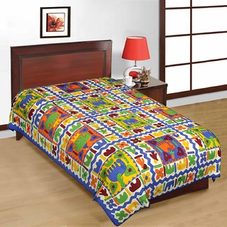 Shreeng Cotton Printed Single Bedsheet