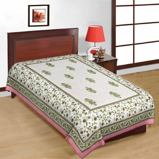 Shreeng Cotton Floral Printed Single Bedsheet