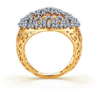 Karatcraft.In Diamond Blast Diamond And 18Kt Gold Ring 16