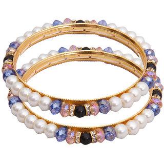 Classique Designer Jewellery Dashing Circle Of Life Pearl Bangles