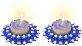 Sukkhi Elegant Diya Candle In Blue