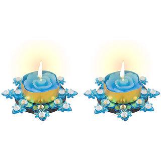 Sukkhi Diya Candle In Bright Blue