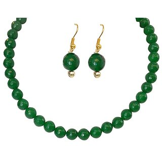 Classique Designer Jewellery Stunning Green Crystal Necklace Set