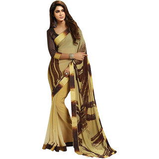 Lovely Look Multicolor Crepe Printed Saree With Blouse