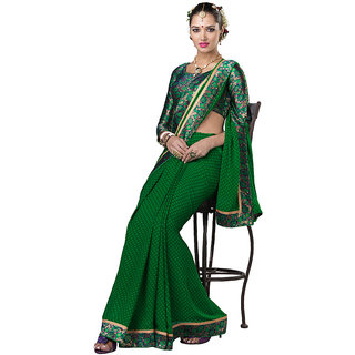 Lovely Look Green Embroidered Saree LLKKRS1169-4