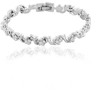 Mahi Silver Plated Silver Sterling Silver Bracelets For Women