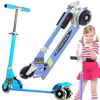 CROWN Blue 3 Wheel Kids Scooter Children Riding Rollerboard Kick Bike Rideon