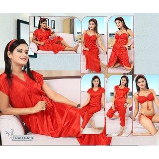 c618f28e5c Womens 12pc Bra Panty Skirt Sleep-Shirt Capri Gown Babydoll Top Pajama Robe  Nighty 1001D