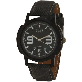 Oura Analog Black Dial Casual Wear Watch For Men (MWB-148)