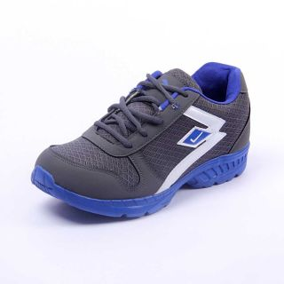 Foot 'n' Style Comfortable Grey & Blue Sports Shoes (fs431)