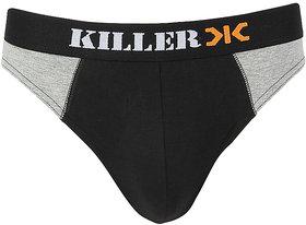 Killer Black Solid Brief (KLBRF104NS1BK)