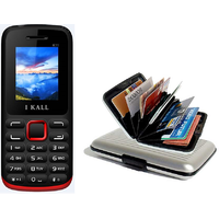 Combo Of K11 Multi Media Mobile Red With Alumini Wallet