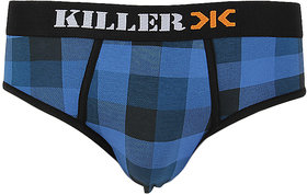 Killer Blue Checkered Brief (KLBRF103NS1BLU)