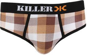 Killer Brown Checkered Brief (KLBRF103NS1BRW)