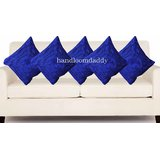 Handloomdaddy Royal Blue Cushion Cover(5 Pcs Set)05