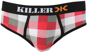 Killer Red Checkered Brief (KLBRF103NS1RD)