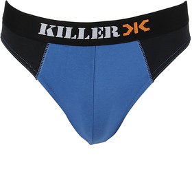 Killer Royal Blue Solid Brief (KLBRF104NS1RYB)