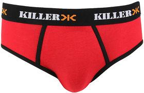 Killer Red Solid Brief (KLBRF107NS1RD)